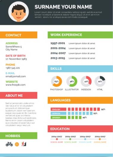 Infographic Resume Service  Visual Cv Services In Pakistan